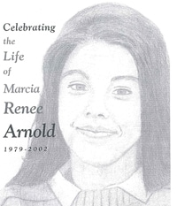 Marcie Arnold funeral bulletin cover